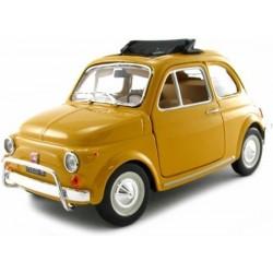 Fiat 500L 1968 1/24 geel