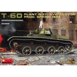 T-60 PLANT N37 SVERDLOVSK SPRING 1942 1/35