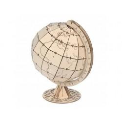 Houten wereldbol 20x17cm