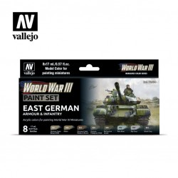 WWII East German armour & infantry model color paint set 8x17ml.
