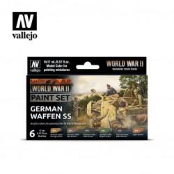 WWII German Waffen SS model color paint set 6x17ml.