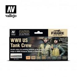 WWII US tank crew model color paint set 8x17ml.