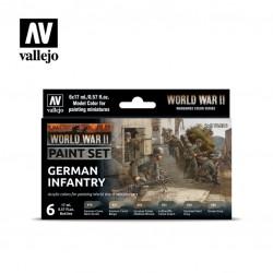 WWII German Infantry model color paint set 6x17ml.