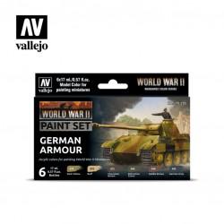 WWII German armour model color paint set 6x17ml.