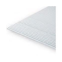 15x30cm gegroefd polystyreenplaat 0,5mm dik, plankbreedte 0.6mm
