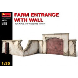 FARM ENTRANCE WITH WALL 1/35