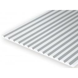 15x30cm gegroefd polystyreenplaat 0,5mm dik, plankbreedte 1.5mm