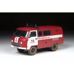 FIRE SERVICE UAZ 3909 1/43 L-10,3CM