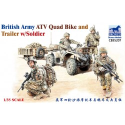 BRITISH ATV QUAD BIKE AND TRAILER 1/35