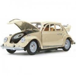 VW Beetle 1/18 RC Diecast cream wit 40MHz