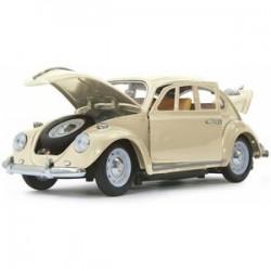 VW Beetle 1/18 RC Diecast cream wit 40MHz
