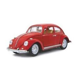 VW Beetle 1/18 RC Diecast cream rood 27MHz