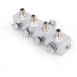 Splitter voor 4 airbrushes
