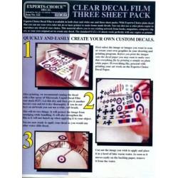 Decalpapier clear, voor inktjet 3st.