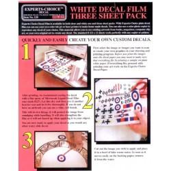 Decalpapier wit, voor inktjet 3st.