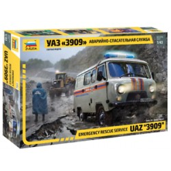 EMERGENCY RESCUE SERVICE UAZ 3909 1/43