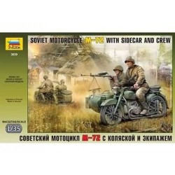 SOVIET MOTOR M-72 WITH SIDECAR AND CREW 1/35 2-VERSIES