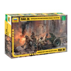 PAK-36 GERMAN ANTI TANK GUN w/crew 1/35