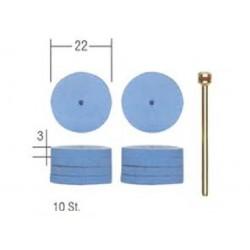 Siliconen polijstschijven 22mm. 10st.+ houder