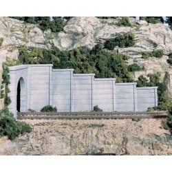 Retaining walls 6st. 1/160 N-scale 3.81x6.35cm
