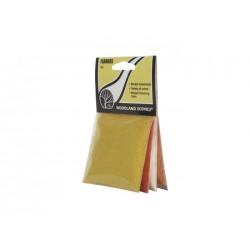4 zakjes rood, geel, wit en oranje strooisel voor het maken van bloembedden