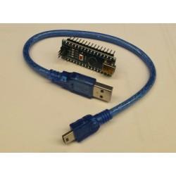 Arduino nano V3 met headers en usb kabeltje