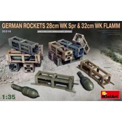 GERMAN ROCKETS 28/32CM 1/35