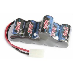 Racing Pack 2700MAh, NiMH 7,2V Hump