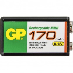 9.6V oplaadbare blok batterij 170mAh