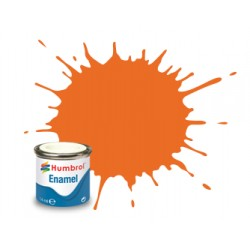 Humbrol Enamel 46 matt oranje 14ml.