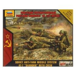 SOVIET ANTI TANK SAXHORN WITH CREW 1/72 SNAP KIT