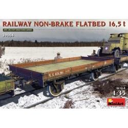 RAILWAY NON-BRAKE FLATBED 16.5T 1/35