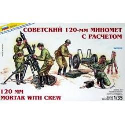 SOVIET 120MM MORTAR WITH CREW 1/35