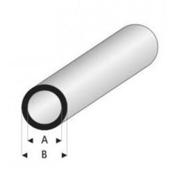Styrene kunststof rond buis B12xA10mm 1mtr.