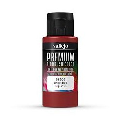 PREMIUM AIRBRUSH COLOR BRIGHT RED 60ML.