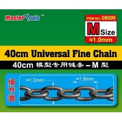 Micro ketting 1.0x1.8mm L-40CM 1/350
