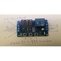 Timer module 0,1s - 15 minuten 12V
