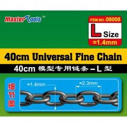 Micro ketting 1.4x2.3mm L-40CM 1/200