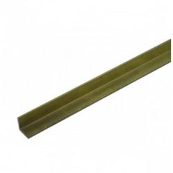 messing L-profiel 2x2mm L-30.5cm