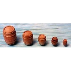 houten tonnen 12x14mm 5stuks