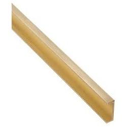 Messing C-profiel 1x3mm L-30,5cm