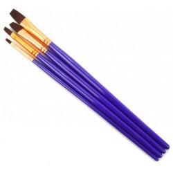 Set platte penselen 3-5-7-10mm