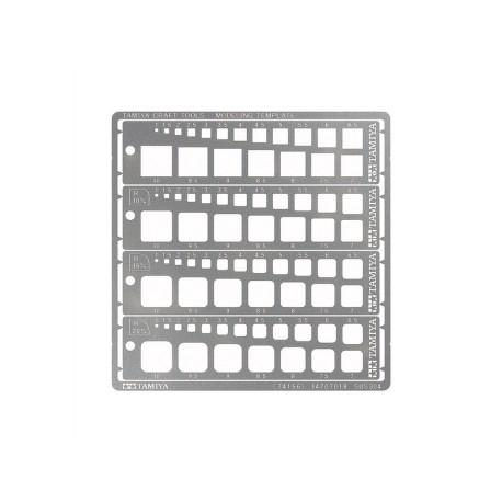 Modeling Quadrat Schablone 1-10mm PE