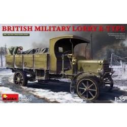 BRITISH MILITAIRY LORRY B-TYPE 1/35