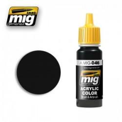 Mig matt black A.MIG-0046 17ml.