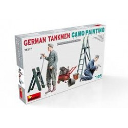 GERMAN TANKMEN PAINTING 1/35