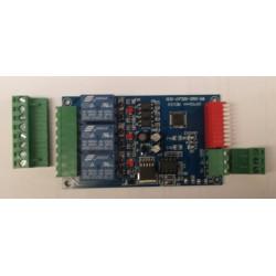12V DMX relais 3x 10A potentiaalvrij