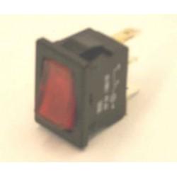 wipschakelaar 6A 1XA/U 12v rood