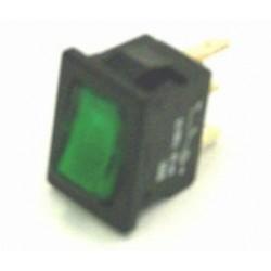 wipschakelaar 6A 1xA/U 12v groen