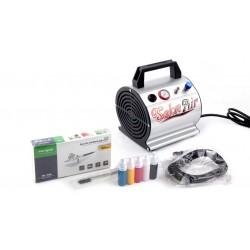 Airbrush Set met compressor Airbrush en accessoires